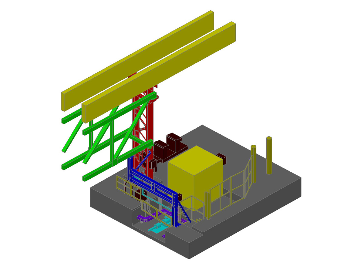 3d Model - Industrial site Italy - Tracciatori Rilievi Laser