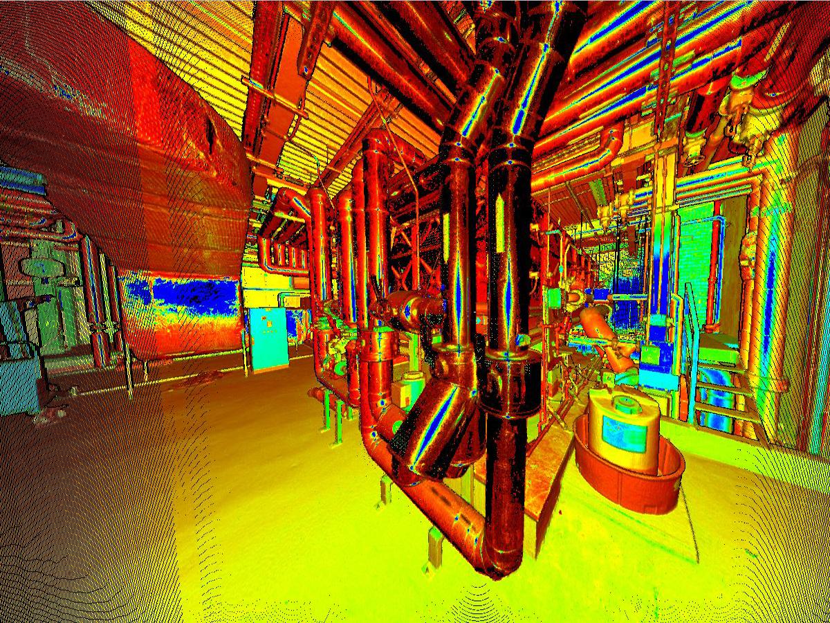3d Model - Industrial chemical site - Tracciatori Rilievi
